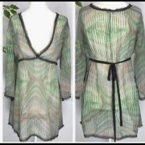 Cabi Sheer Sz XS Tunic Shirt #997